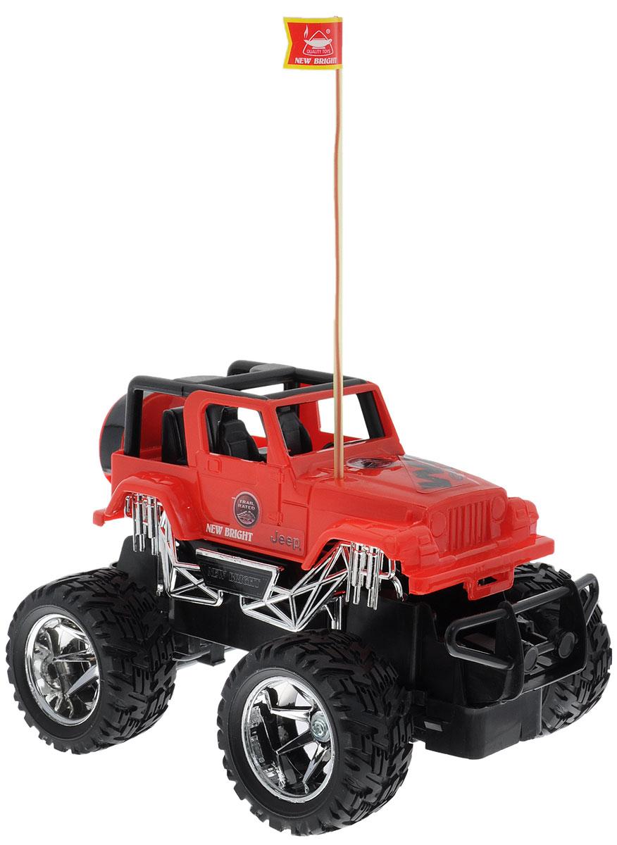 """Культовый американский автомобиль Jeep Wrangler привлечет внимание как ребенка, так и взрослого и понравится любому, кто увлекается автомобилями. Маневренная и реалистичная уменьшенная копия New Bright """"Jeep Wrangler"""" выполнена в точной детализации с настоящим автомобилем в масштабе 1:24. Управление машинкой происходит с помощью пульта. Машинка двигается вперед и назад, поворачивает направо и налево. Колеса игрушки прорезинены и обеспечивают плавный ход, машинка не портит напольное покрытие. Радиоуправляемые игрушки способствуют развитию координации движений, моторики и ловкости. Ваш ребенок часами будет играть с моделью, придумывая различные истории и устраивая соревнования. Порадуйте его таким замечательным подарком! Для работы игрушки необходимы 3 батарейки типа АА (не входят в комплект). Для работы пульта управления необходимы 2 батарейки типа АА (не входят в комплект)."""