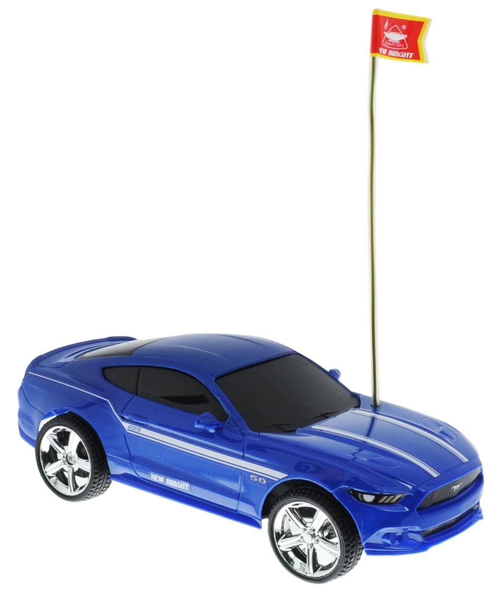 """Культовый американский автомобиль Ford Mustang GT привлечет внимание как ребенка, так и взрослого и понравится любому, кто увлекается автомобилями. Маневренная и реалистичная уменьшенная копия New Bright """"Ford Mustang GT 2015"""" выполнена в точной детализации с настоящим автомобилем в масштабе 1:24. Управление машинкой происходит с помощью пульта. Машинка двигается вперед и назад, поворачивает направо и налево. Колеса игрушки прорезинены и обеспечивают плавный ход, машинка не портит напольное покрытие. Радиоуправляемые игрушки способствуют развитию координации движений, моторики и ловкости. Ваш ребенок часами будет играть с моделью, придумывая различные истории и устраивая соревнования. Порадуйте его таким замечательным подарком! Для работы игрушки необходимы 3 батарейки типа АА (не входят в комплект). Для работы пульта управления необходимы 2 батарейки типа АА (не входят в комплект)."""