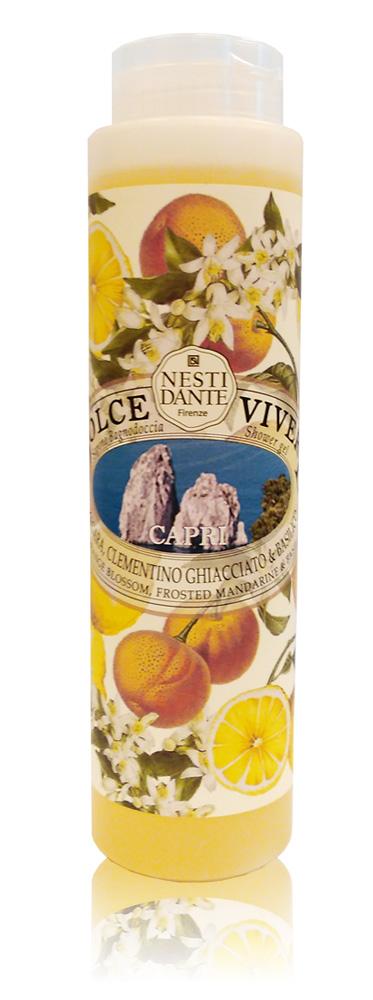 Nesti Dante Гель для душа Capri-Капри 300 млFS-00897Жидкое мыло и гели Nesti Dante производится исключительно из растительных масел и содержит 100% оливковое масло. Содержащееся в продуктах оливковое масло известно как «эликсир молодости» благодаря высокой концентрацией витамина Е, который помогает бороться с образованием свободных радикалов, повинных в старении кожи