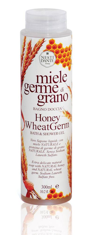 Nesti Dante Гель для душа и ванны Honey Wheat Germ, с медом и зародышами пшеницы, 300 млFS-00897Растительный гель Nesti Dante производится исключительно из растительных масел и содержит 100% оливковое масло. Уникальность этого геля для душа состоит в том, что технология производства аналогична технологии производства твердого мыла, именно это является отличительной чертой от гелей других производителей.Гель не содержит синтетических ПАВ (таких как натрия лаурил сульфат). В составе оливковое масло с добавлением деминерализированной воды и активными ингредиентами меда и зародышей пшеницы.Товар сертифицирован.