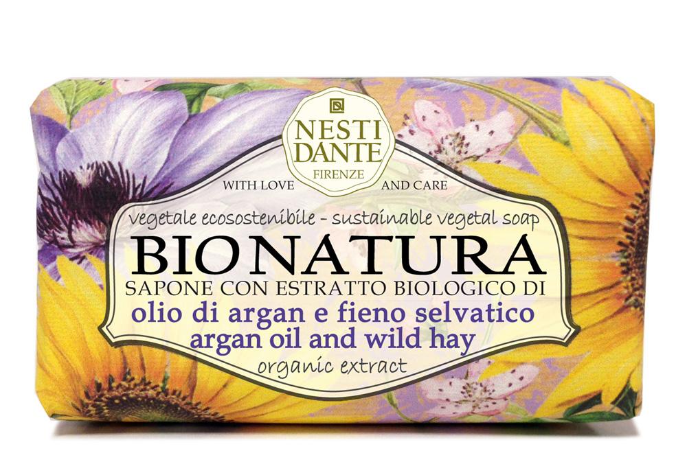 """Nesti Dante Мыло Bionatura. Масло Аргании и альпийские травы, 250 гMP59.3DМыло Nesti Dante """"Bionatura"""" - натуральное мыло, в состав которого входят ингредиенты, выращенные и собранные в экологически чистых условиях. Мыло Nesti Dante """"Bionatura"""" обогащено маслом Аргании и экстрактами альпийских трав. Масло Аргании обладает питательными и регенерирующими свойствами, увлажняет кожу, делает ее гладкой и шелковистой. Альпийские травы тонизируют и заряжают энергией. Изысканная флорентийская бумага, в которую завернуто мыло, расписана акварелью, на каждом кусочке мыла выгравирована надпись With Love And Care (С любовью и заботой). Товар сертифицирован."""