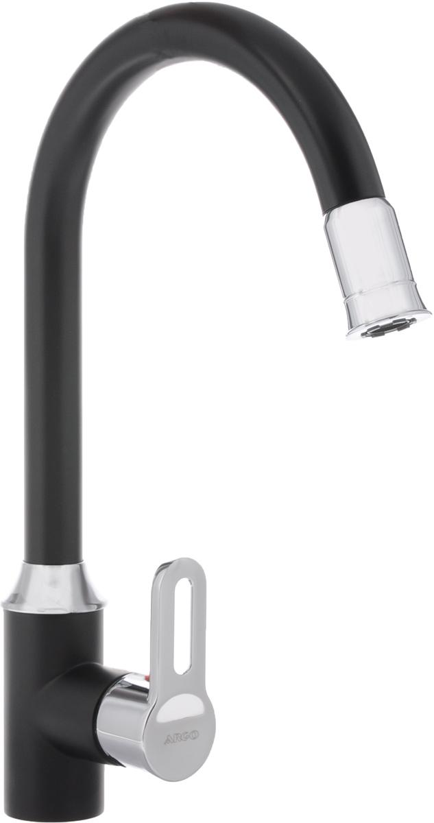 Смеситель для кухни Argo, светодиодный. 35-03/S GRAG3328120EСветодиодный смеситель для кухни Argo сочетает в себе отличные эксплуатационные характеристики и оригинальный дизайн. Аэратор изготовлен из высококачественного пластика, благодаря чему на нем не образуется налет. Водная струя насыщается воздухом, становится ровной и без брызг. Тело смесителя отлито из высококачественной, безопасной для здоровья пищевой латуни.Смеситель Argo эргономичен, прост в монтаже и удобен в использовании. Характеристики: - рабочая температура: до 80°C;- рабочее давление: 0,63 Мпа;- расстояние между центрами эксцентриков: 150+/-20 мм;- резьба подсоединения эксцентриков: 1/2.В комплект входит: смеситель, гибкая подводка - 50 см, набор для монтажа.Диаметр основания смесителя: 4,7 см.