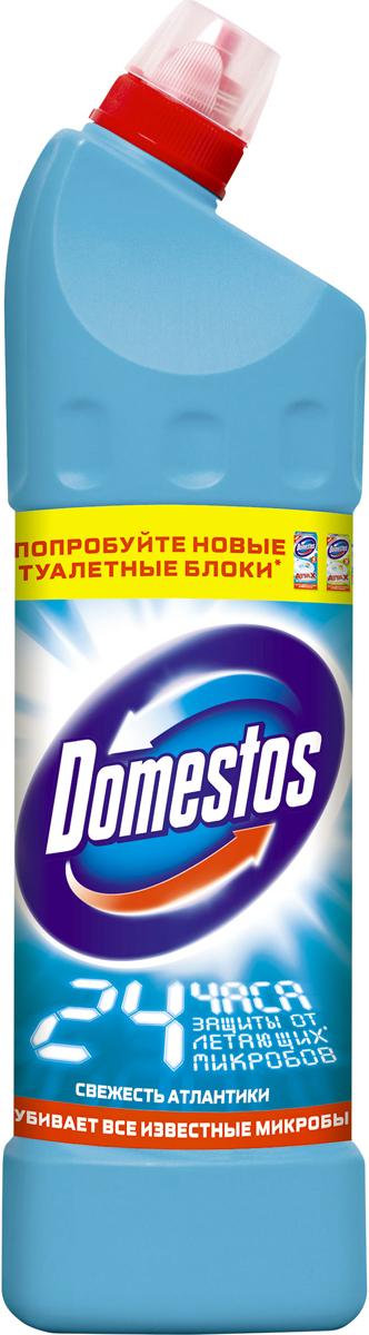 Domestos Чистящее средство для унитаза, атлантическая свежесть, 1 л391602Универсальное чистящее средство Domestos Двойная сила. Свежесть Атлантики подходит для уборки раковин и ванн, кафеля, пола, унитаза, сливов и водостоков на кухне и в ванной. Чистит до блеска, дезинфицирует и отбеливает. Domestos не только очищает поверхности, но и помогает бороться со всеми известными микробами - в том числе, вызывающими опасные заболевания, обеспечивая свежий аромат. Густой, многофункциональный, экономичный и невероятно эффективный. Среди средств для туалетов Domestos - бесспорный лидер, благодаря густой формуле и удобной форме бутылки.Нельзя забывать, что гигиена важна не только в туалете, но и в ванной. Влага и тепло - идеальные условия для размножения бактерий, грибка, плесени. Регулярное использование небольшого количества Domestos на мокрой тряпке или губке в ванной убирает мыльной осадок, темные пятна, дезинфицирует поверхности. Domestos безопасен. При надлежащем использовании Domestos абсолютно безвреден как для людей, так и для окружающей среды: содержащееся в нем активное дезинфицирующее вещество сразу после применения распадается на безопасные компоненты. Состав: менее 5%: гипохлорит натрия, анионные ПАВ, неионогенные ПАВ, мыло, отдушка.Товар сертифицирован.