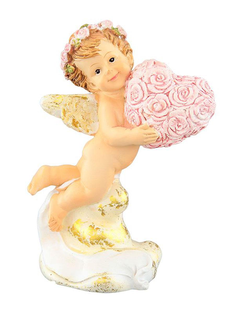 Фигурка декоративная Elan Gallery Ангелочек с сердечком, высота 10 смTHN132NДекоративная фигурка с изображением ангелочка станет прекрасным сувениром, который вызовет улыбку и поднимет настроение. Фигурка выполнена из полистоуна.