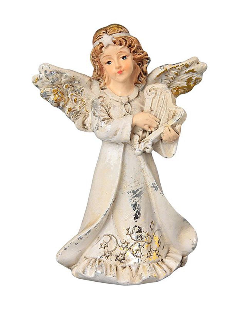 Фигурка декоративная Elan Gallery Ангел с арфой, высота 8,5 см28907 4Декоративная фигурка с изображением ангелочка станет прекрасным сувениром, который вызовет улыбку и поднимет настроение. Фигурка выполнена из полистоуна.