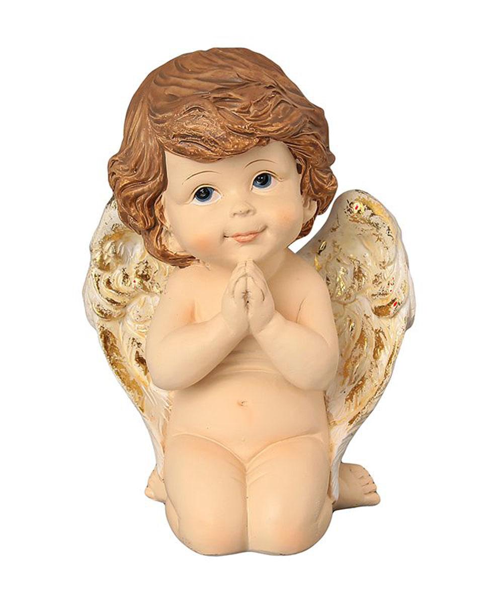 Фигурка декоративная Elan Gallery Задумчивый ангелочек, высота 14 смTHN132NДекоративные фигурки - это отличный способ разнообразить внутреннее убранство вашего дома. Декоративная фигурка с изображением ангела станет прекрасным сувениром, который вызовет улыбку и поднимет настроение.Фигурка выполнена из полистоуна.