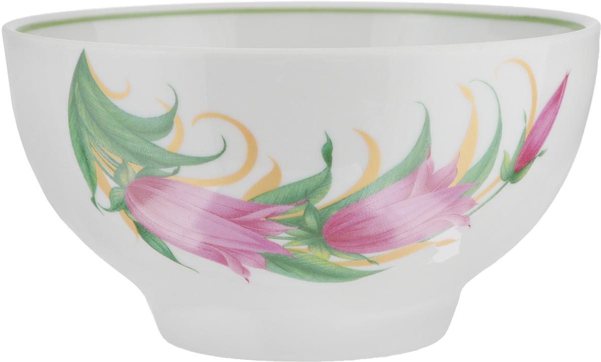 Пиала Колокольчики, 500 мл115510Пиала Колокольчики, изготовленная из высококачественного фарфора, прекрасно подойдет для подачи салата, супа или мороженого. Благодаря лаконичному дизайну, такая пиала станет бесспорным украшением вашего стола. Она дополнит коллекцию кухонной посуды и будет служить долгие годы.