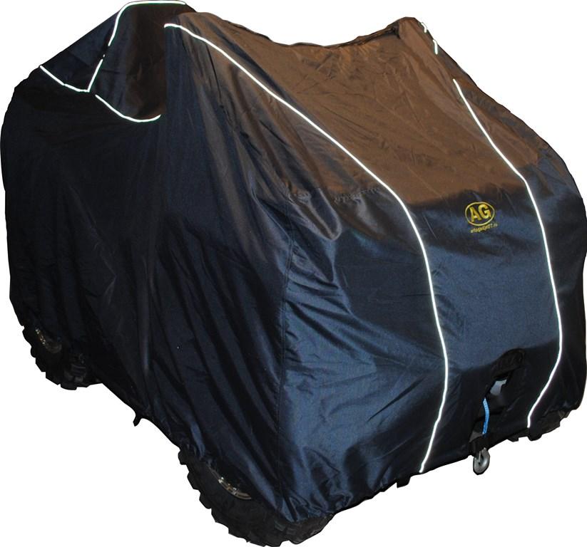 Чехол транспортировочный AG-brand для ATV Polaris Sportsman (к.база), цвет: черныйKGB GX-5RSТранспортировка и хранение квадроцикла. Изготовлен из высокопрочной плотной тентовой ткани Оксфорд 600ПУ с высоким показателем водоупорности.