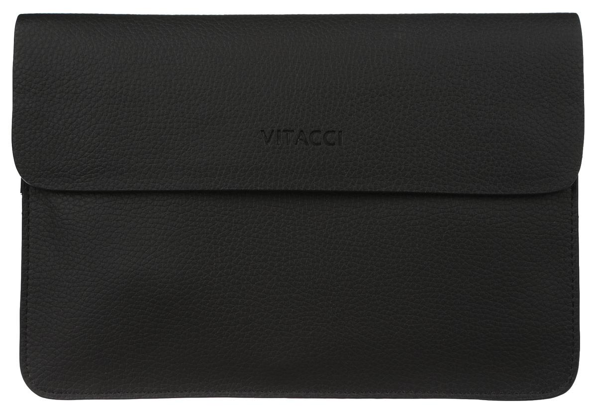 Сумка мужская Vitacci, цвет: черный. MW046S76245Мужская сумка Vitacci выполнена из искусственной кожи зернистой фактуры черного цвета. Сумка имеет три отделения, которые закрываются на замок-молнию и дополнительно клапаном на магниты. Внутри - два двусторонних накладных кармана с отделениями для фотографий и визиток, врезной карман на молнии и большой накладной карман для телефона и мелких принадлежностей. На лицевой стороне сумки, под клапанам расположен глубокий врезной карман. Такая сумка подчеркнет вашу яркую индивидуальность и оригинально дополнит ваш образ.