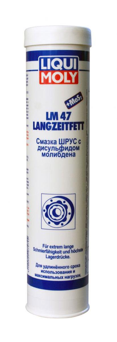 Смазка LiquiMoly LM 47 Langzeitfett + MoS2 , с дисульфидом молибдена, 0,4 кгS03301004Консистентная смазка на минеральной основе с литиевым комплексом и ЕР-присадками, усиленная дисульфидом молибдена для смазки ШРУСов и подшипников.