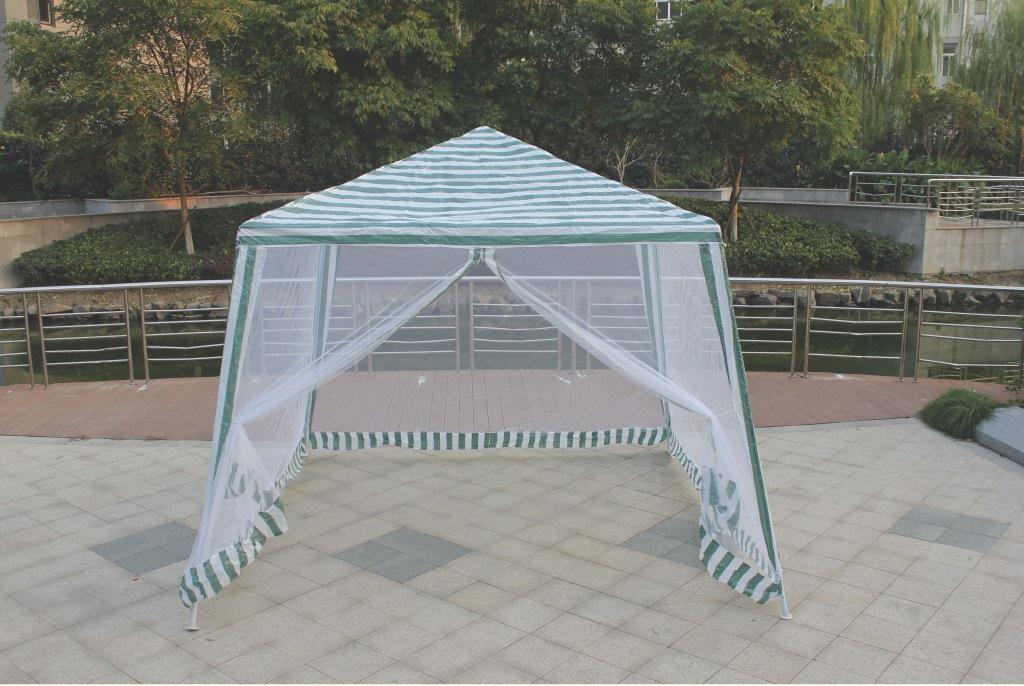 Тент-шатер Reka, с москитной сеткой, цвет: белый, зеленыйGK-001BТент-шатер Reka - это прочный металлический каркас и надежное покрытие шатра в купе с защитной москитной сеткой. В нем можно пожарить шашлык при неблагоприятных погодных условиях или укрыться от палящего солнца и легкого ветра.Шатер легко и просто установить, поэтому он будет незаменим как на дачном участке, так и при недолгих прогулках на природе.Размер: 3 х 3/2,4 х 2,4 м.Материал: водонепроницаемый полиэстер 110гр/м2.Каркас: сталь 24 х 18 х 18 мм.