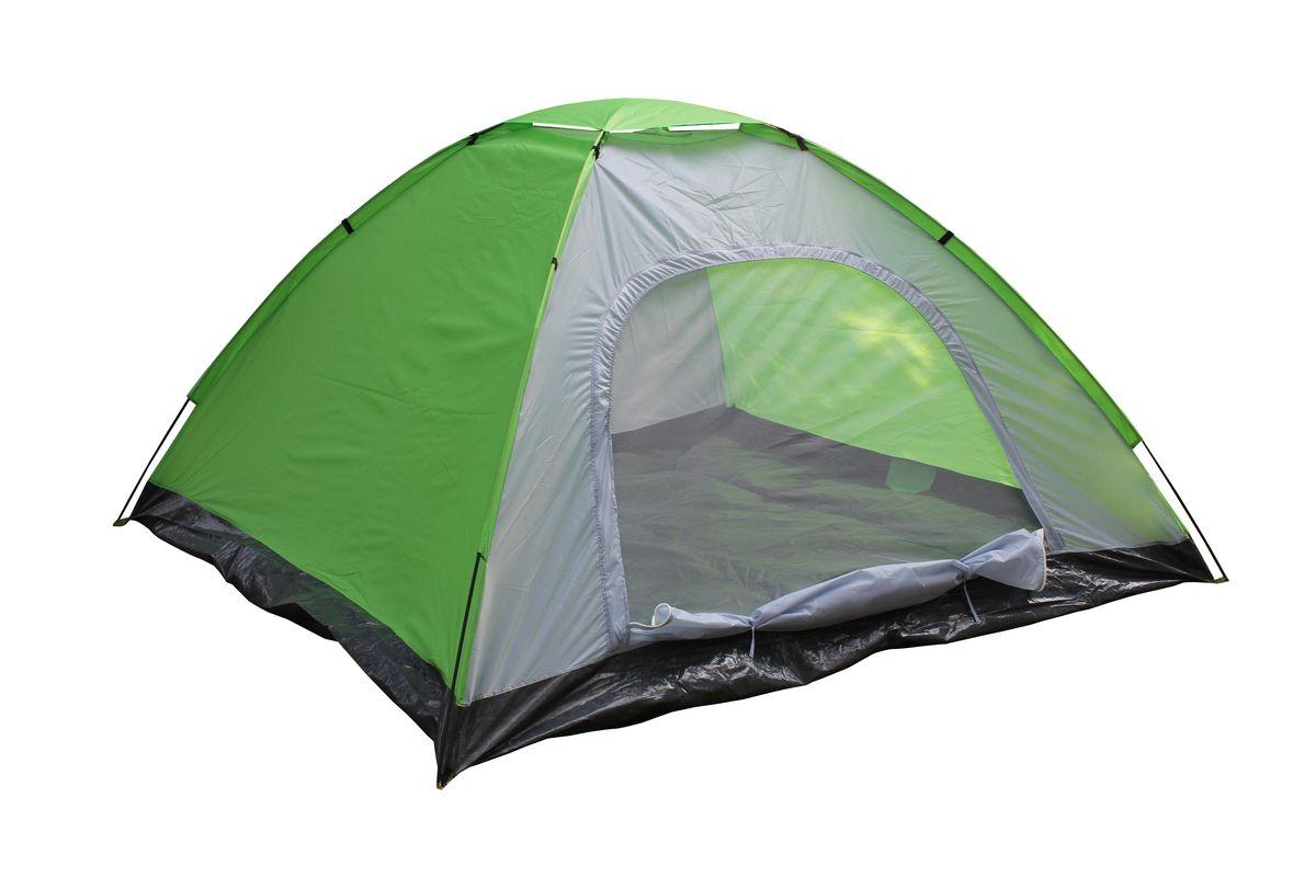 Палатка Reka, 5-местная, цвет: зеленый, серыйTK-0035-местная палатка Reka отлично подойдет для кемпинга и похода. Каркас выполнен из фибергласса, тент из полиэстера.Размер: 240 x 240 х 120 см.Материал тента: 190T полиэстер.Вес: 2,54 кг.