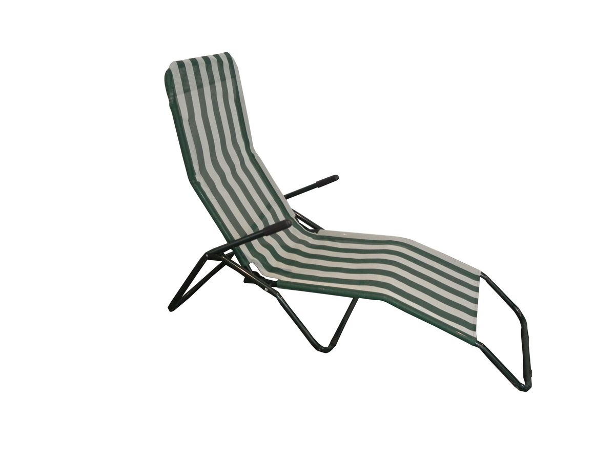 Шезлонг складной  Reka , цвет: белый, зеленый - Складная и надувная мебель