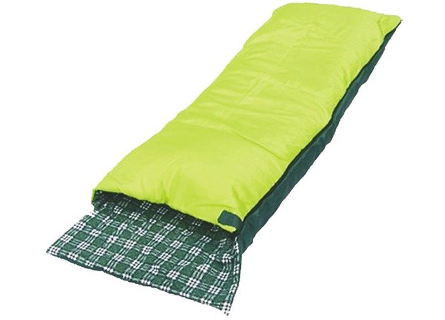 Спальный мешок-одеяло Чайка SOFT 200, правосторонняя молния, цвет: салатовыйSOF200Спальный мешок-одеяло с подголовником Чайка SOFT 200 - это практичная модель для летнего сезона в туризме и активного отдыха на природе.Разъемные двухзамковые молнии позволяют объединить два спальных мешка в один двойной.Синтетический утеплитель нового поколения термофайбер обладает повышенными теплоизолирующими свойствами. Он легкий, мягкий, особо теплый, хорошо пропускает воздух, не впитывает влагу.Можно расстегнуть молнию и использовать спальник как обыкновенное одеяло. Комплектуется компактным чехлом.Размер: 190+25 х 75 см.Материал наружный: Полиэстеровая таффета 190T.Материал внутренний: Фланель (100% хлопок).Наполнитель: Термофайбер 200г/м2. Температурный режим: +5/+20 С.Вес: 1,25 кг.