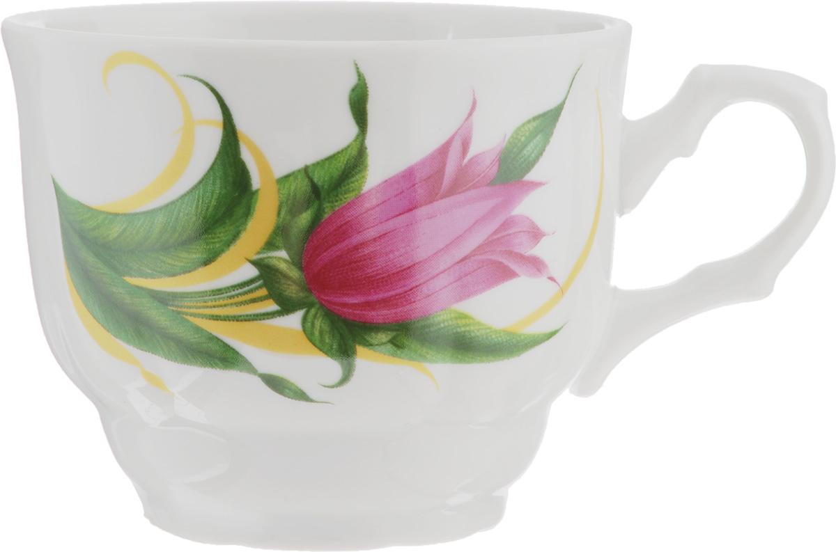 Чашка Тюльпан. Колокольчики, 250 мл68/5/4Чашка Тюльпан. Колокольчики изготовлена из высококачественного фарфора. Изделие оформлено красочным рисунком и покрыто превосходной сверкающей глазурью. Изысканная чашка прекрасно оформит стол к чаепитию и станет его неизменным атрибутом.Диаметр кружки (по верхнему краю): 8,5 см.Высота стенок: 7 см.