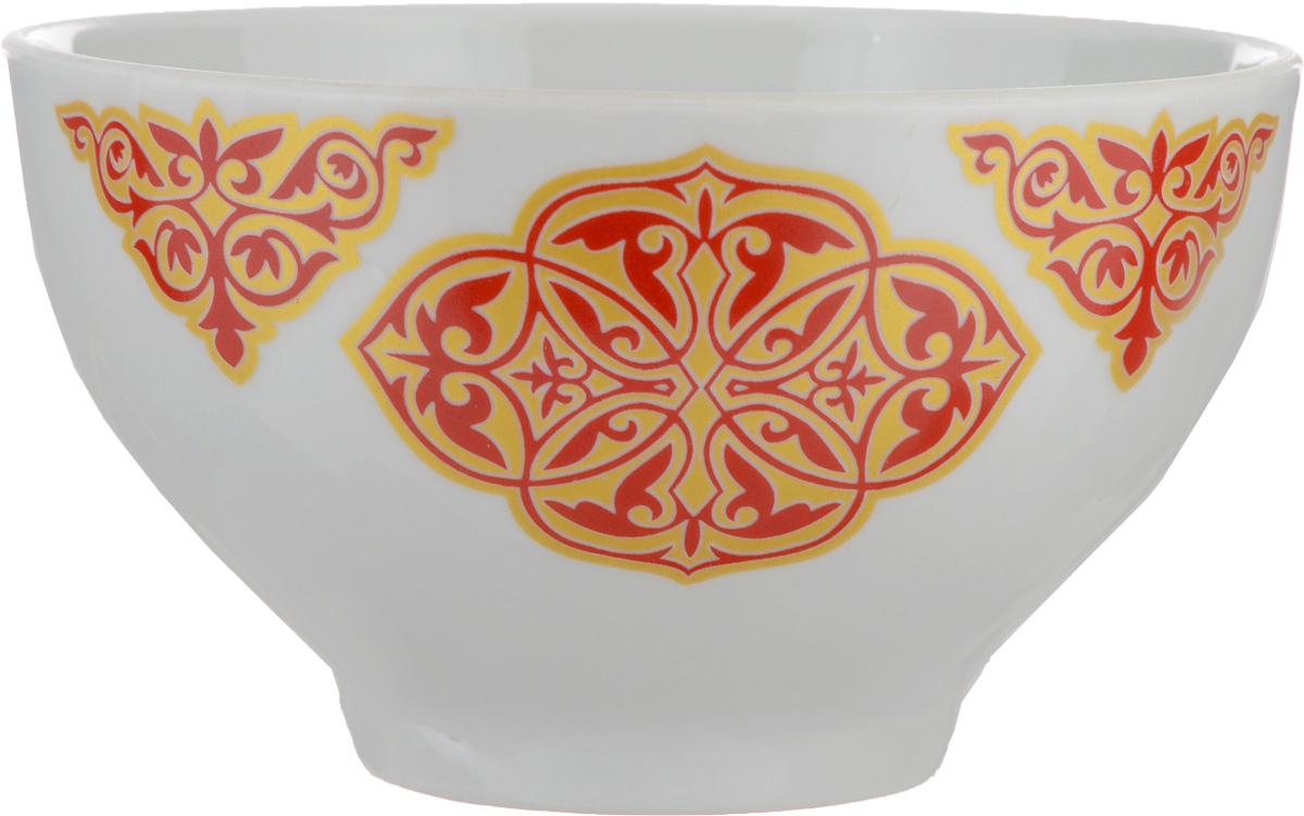 Пиала Восточный, 330 мл115510Пиала Восточный, изготовленная из высококачественного фарфора, прекрасно подойдет для подачи салата, супа или мороженого. Благодаря лаконичному дизайну, такая пиала станет бесспорным украшением вашего стола. Она дополнит коллекцию кухонной посуды и будет служить долгие годы.