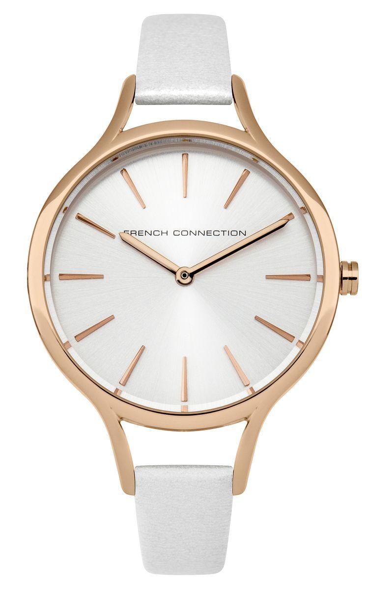 Zakazat.ru: Часы наручные женские French Connection Slim Facet, цвет: белый. FC1253WRG