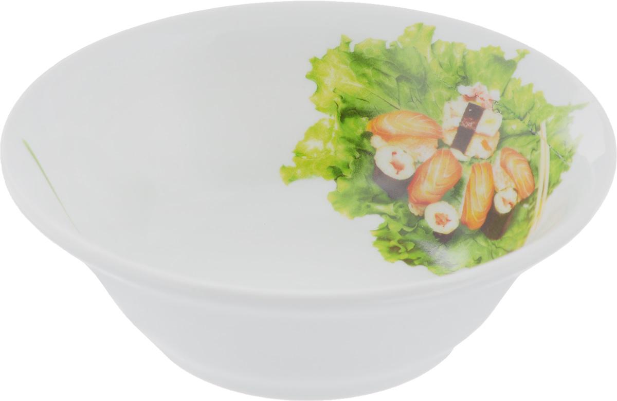 Салатник Идиллия. Бутерброды, 360 мл115510Элегантный салатник Идиллия. Бутерброды, изготовленный из высококачественного фарфора, прекрасно подойдет для подачи различных блюд: закусок, салатов или фруктов. Такой салатник украсит ваш праздничный или обеденный стол, а оригинальное исполнение понравится любой хозяйке.