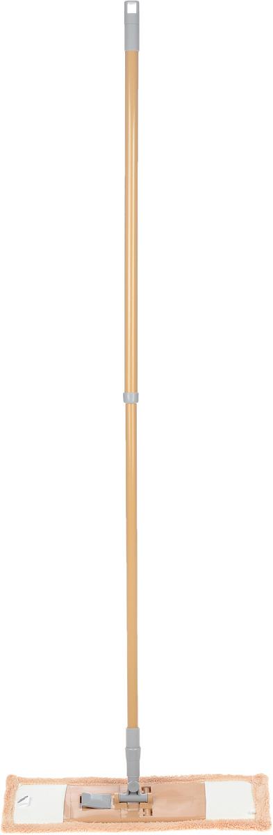 Швабра Флэт, с телескопической ручкой и сменной насадкой, цвет: бежевый. 1402211531-105Легкая и удобная протирочная швабра Флэт предназначенадля мытья полов, стен, потолков и других больших поверхностей. Она выполнена из высококачественного металла и пластика, а также оснащена коротковорсной насадкой их микрофибры. Подвижное крепление телескопической рукоятки к насадке позволяет мыть полы в труднодоступных местах. Насадка легко удаляет пыль, не оставляя разводов и ворсинок. Благодаря такой швабре, уборка станет легким и приятным делом, а время работы сократится в несколько раз. Длина ручки: 52-128 см. Размер насадки: 44 х 14 х 2 см.