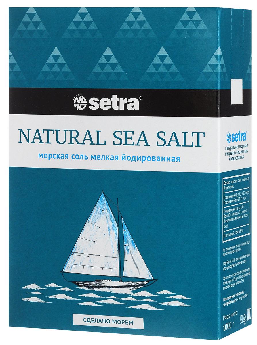 Setra соль морская мелкая йодированная, 1 кг81043Морскую соль Setra получают из вод Адриатического моря уже более 700 лет старым, естественным, экологически чистым способом: выпариванием морской воды на солнце. В отличие от каменной соли, морская соль содержит больше ионов магния, калия, йода, кальция, фтора, а также других морских минералов, что, помимо ощутимой пользы для организма, придаст вашим блюдам особый изысканный вкус.