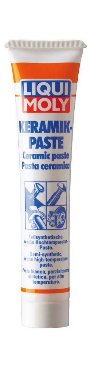 Паста керамическая Liqui Moly Keramik-Paste, 50 гNap200 (40)Liqui Moly Keramik-Paste применяется для обработки тыльной стороны тормозных колодок, свечей зажигания, деталей системы выхлопа и резьбовых соединений, работающих под действием высокой температуры (до 1400°С) и нагрузки. Предотвращает коррозию и заедание перечисленных деталей, а также прикипание шпилек выпускного коллектора, колесных болтов. Облегчает разборку механизма после длительной эксплуатации. Дополнительно рекомендуется использовать в условиях химически агрессивной среды.Особенности:Отличается высочайшей температурной стойкостью.Химически инертна, нейтральна практически ко всем уплотнительным материалам.Не токсична.Имеет очень высокую адгезию, и прочность при действии центробежных нагрузок.Демонстрирует высокую стойкость к воздействию соленой и горячей воды, в том числе под давлением.Противодействует передаче колебаний и возникновению посторонних звуков.Обеспечивает защиту поверхности контакта от образования коррозии.Выдерживает очень высокое давление.Оказывает смазывающее и разделительное действие.Керамическая паста универсальна в применении.Основа: синтетическое и минеральное масло.Товар сертифицирован.
