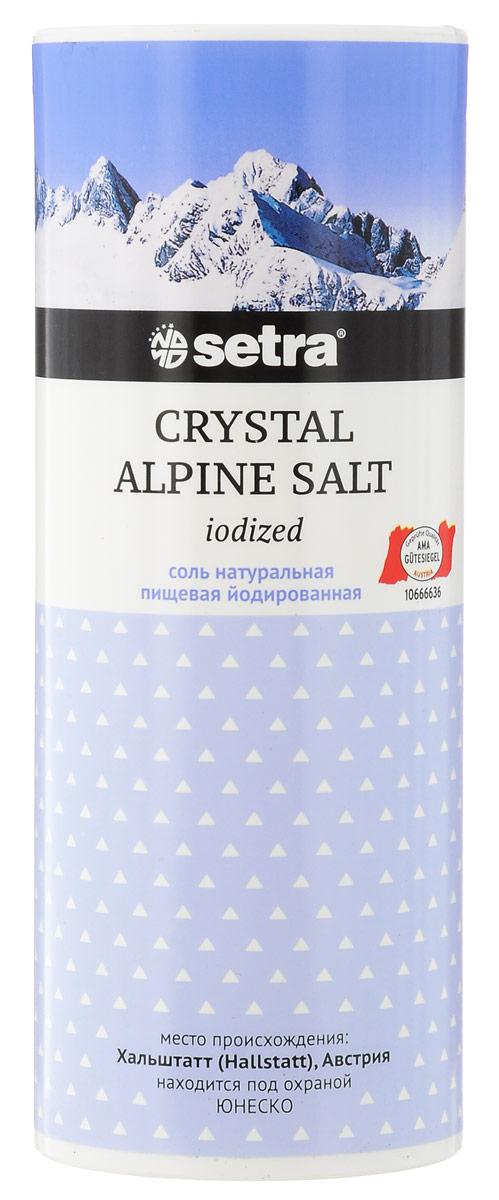 Setra Crystal Alpine соль каменная йодированная, 500 г0120710Природная белая соль Setra добывается из самой глубины Альп, в копях Хальштатт, которые внесены в список культурного наследия ЮНЕСКО.