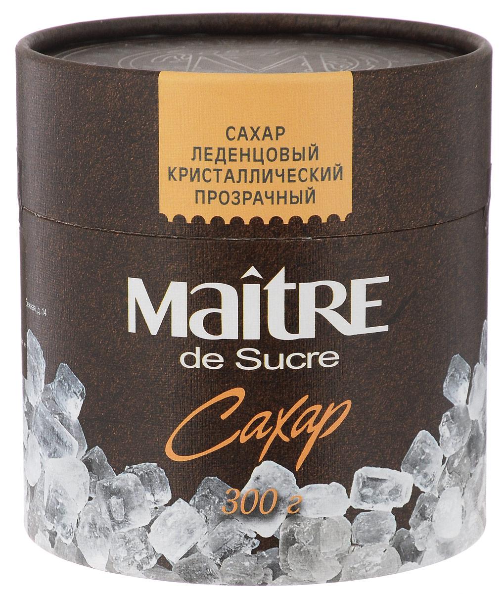 Maitre de Sucre сахар леденцовый прозрачный кристаллический, 300 г0120710Сахар Maitre de Sucre - отличная альтернатива для любителей конфет и леденцов. При заливании кипятком эти белые прозрачные кристаллы издают характерный звук, напоминающий морозный треск. Идеален для чая.