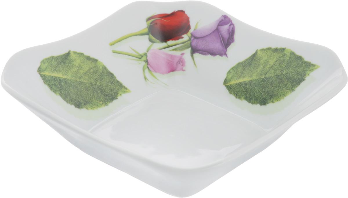 Салатник Королева цветов, 450 мл115510Элегантный салатник Королева цветов, изготовленный из высококачественного фарфора, прекрасно подойдет для подачи различных блюд: закусок, салатов или фруктов. Такой салатник украсит ваш праздничный или обеденный стол, а оригинальное исполнение понравится любой хозяйке.Размер салатника: 16 х 16 см.
