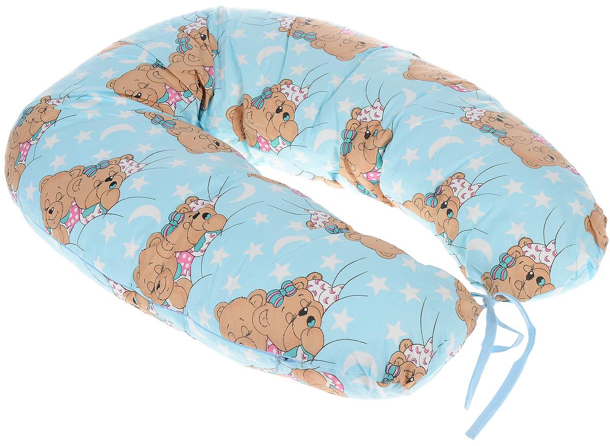 Фэст Подушка для беременных и кормящих мам Спящие мишки цвет голубойРU340K8Подушка для беременных и кормящих мам Фэст Спящие мишки - это удобная и практичная вещь, которая прослужит вам долгое время.Подушка имеет форму подковы. Предназначена для беременных и кормящих мам, позволяет принять удобное положение во время сна, отдыха на больших сроках беременности и кормления грудничка. При кормлении грудью подушка помогает уменьшить нагрузку на руки, плечи и шею. Для поддержания ребенка в разных положениях и защиты его от падения, расположите малыша в центре подушки. Оформлено изделие ярким рисунком с изображением забавных животных.Чехол подушки выполнен из 100% хлопка. Перед применением рекомендуется постирать наволочку. Поставляется подушка в сумке-чехле.Советы по уходу: ручная или машинная стирка при температуре воды не выше 40 °C, не отбеливать, химическая чистка запрещена, гладить при средней температуре, сушка в барабане запрещена.
