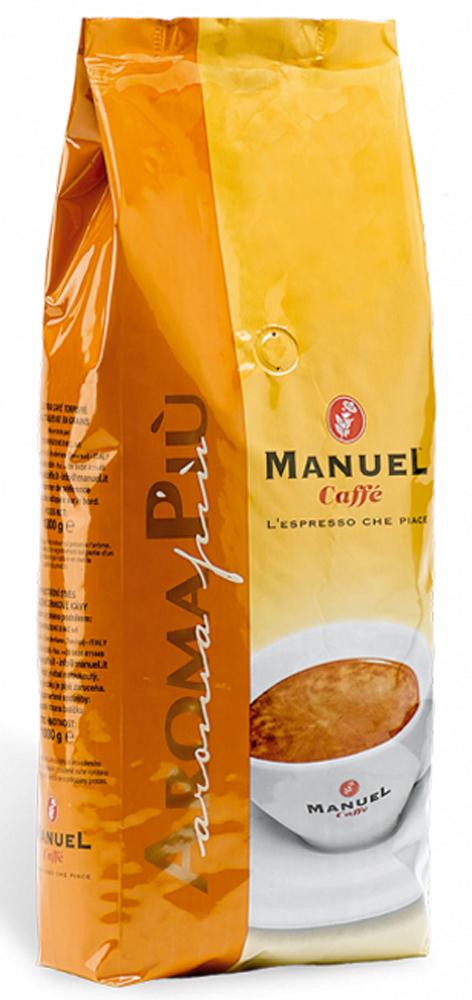 Manuel Aroma Piu кофе в зернах, 1 кг4607141339554Manuel Aroma PIU в зернах – яркий представитель кофейного ассортимента итальянской марки Manuel, в состав которого входят 40 % отборной арабики и 60 % высококачественной робусты. Кофе не обладает ярко выраженными кислотностью и горечью, имеет высокую пенку, плотное тело и устойчивое шоколадное послевкусие. Хорошо подходит для приготовления в автоматических кофемашинах.
