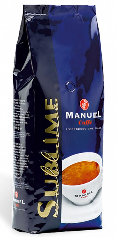 Manuel Sublime кофе в зернах, 1 кг0120710Manuel Sublime - кофе для тех, кто выбирает лучшее. Совершенная смесь кофе с неповторимым мягким, ароматно-фруктовым вкусом и приятным устойчивым послевкусием. Его аромат — признак кофе в своих лучших проявлениях!