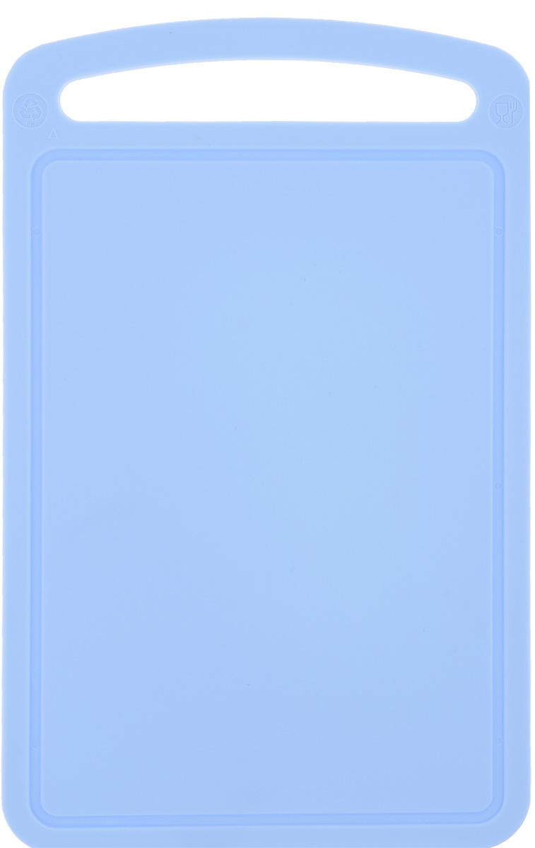 Доска разделочная Idea, цвет: голубой, 24 х 15 смМ 1571_голубойРазделочная доска Idea, выполненная из высокопрочного пищевого полипропилена, станет незаменимым атрибутом приготовления пищи. Доска устойчива к повреждениям и не впитывает запахи, идеально подходит для разделки мяса, рыбы, приготовления теста и для нарезки любых продуктов. Изделие снабжено ручкой и желобками по краю для стока жидкости.