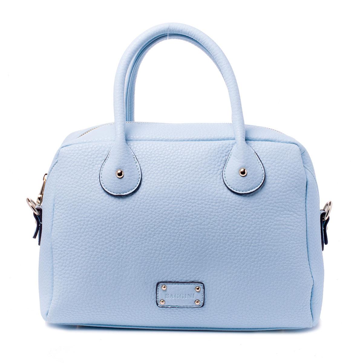 Сумка женская Baggini, цвет: голубой. 29701/40A-B86-05-CЖенская сумка Baggini выполнена из высококачественной искусственной кожи. Сумка застегивается на застежку-молнию и имеет одно вместительное отделение, внутри располагается прорезной карман на застежке-молнии и три накладных кармашка для мелочей и телефона. На задней стороне расположен прорезной карман на застежке-молнии. Сумка оснащена съемным наплечным ремнем, который регулируется по длине. Дно сумки дополнено металлическими ножками.Сумка - это стильный аксессуар, который подчеркнет вашу изысканность и индивидуальность и сделает ваш образ завершенным. С такой сумочкой вы не останетесь незамеченной.