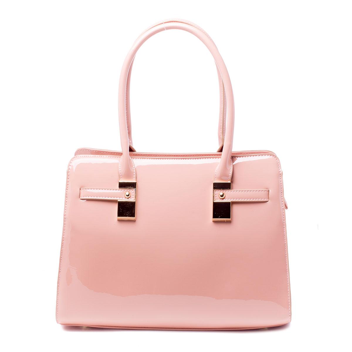 Сумка женская Baggini, цвет: розовый. 35605/63BP-001 BKСтильная женская сумка Baggini выполнена из искусственной кожи. Изделие содержит одно отделение и закрывается на застежку-молнию. Внутри расположены два накладных кармана, врезной карман на застежке-молнии и карман-средник на молнии. Задняя сторона сумки дополнена врезным карманом на молнии.Сумка оснащена двумя удобными ручками средней высоты. Дно сумки дополнено металлическими ножками.