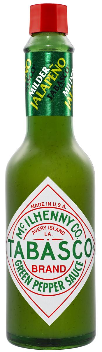 Tabasco Зеленый перечный соус, 60 мл6510Зеленый перечный соус Tabasco особенно порадует любителей мексиканской кухни. Густой соус изумрудного цвета, приготовленный из отборных спелых перцев халапеньо (jalapeno), обладает ярко выраженным перечным вкусом, но он более мягкий по сравнению с красным перечным соусом табаско. Зеленый перечный соус придает приятный вкус и аромат пище, не приглушая другие вкусовые оттенки, его можно использовать в больших количествах, не опасаясь, что блюда станут слишком острыми. Соус великолепен как заправка для салатов и компонент для производства сложных соусов, идеален с супами, пиццей, яйцами, пастой, птицей, рыбой, морепродуктами, блюдами мексиканской кухни. Он вполне заменяет соевый соус, томатный соус, чеснок, ворчестерширский (вустерский) соус, черный и душистый перец, паприку. Это прекрасный маринад для говядины, птицы, рыбы.