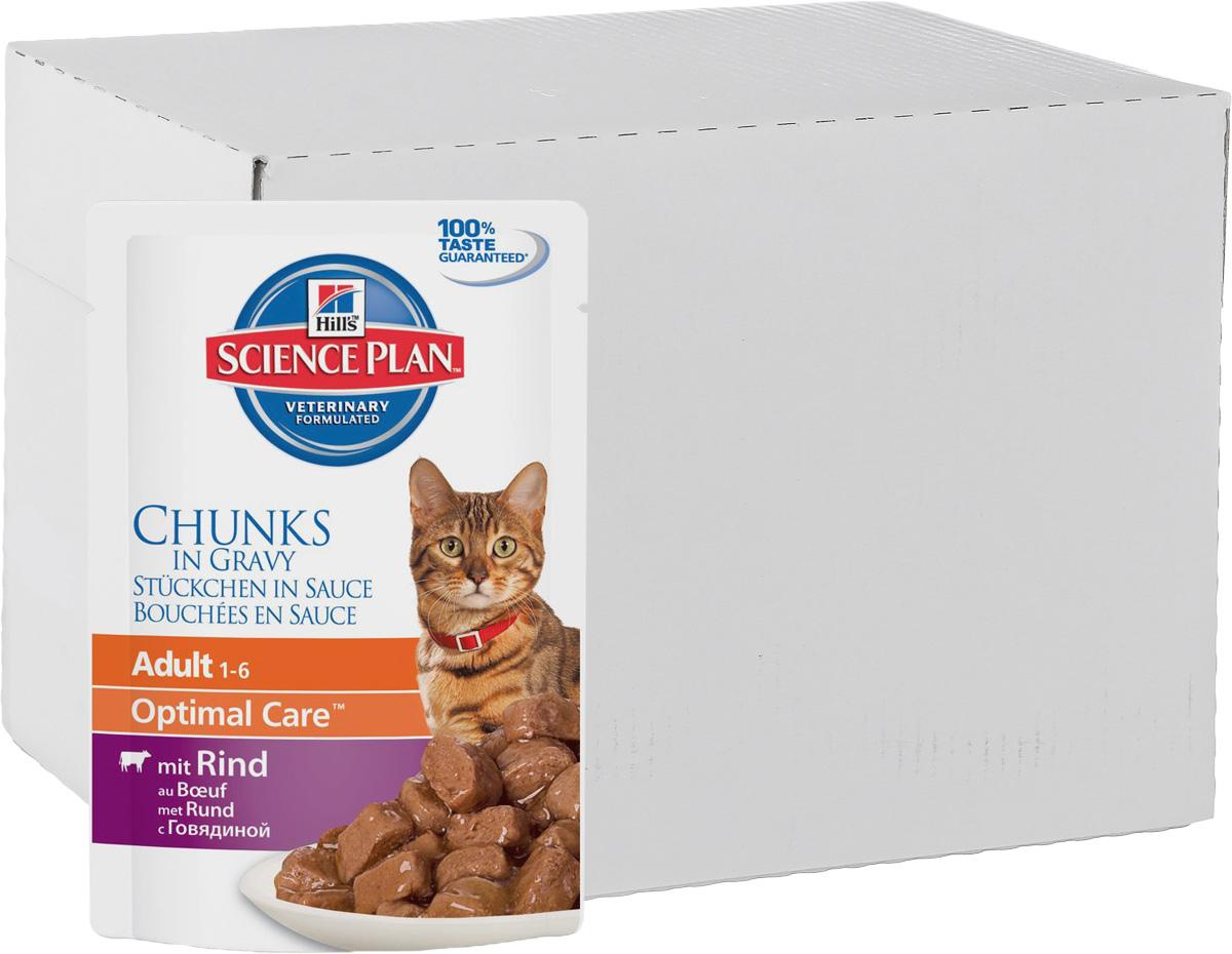 Консервы Hills Optimal Care для кошек от 1 года, с говядиной, 85 г, 12 шт0120710Консервы Hills Optimal Care - это полноценное, точно сбалансированное питание, приготовленное из ингредиентов высокого качества, без добавления красителей и консервантов. Каждый рацион Science Plan содержит эксклюзивный комплекс антиоксидантов с клинически подтвержденным эффектом для поддержки иммунной системы вашего питомца.Рекомендуется кошкам в возрасте от 1 до 7 лет.Не рекомендуется: - котятам, - беременным и кормящим кошкам. Во время беременности и лактации кошек нужно переводить на рацион для котят Hills Science Plan Kitten Healthy Development (Гармоничное развитие).Ключевые преимущества: - Высокая энергетическая ценность удовлетворяет потребность животного в энергии без необходимости скармливать большие порции. - Контролируемое содержание протеинов и натрия - точный баланс нутриентов для крепкого здоровья (не допускает избытка нутриентов, который может навредить здоровью). - Контролируемое содержание магния и фосфора поддерживает здоровье мочевыводящих путей. - Комплекс антиоксидантов нейтрализует действие свободных радикалов и поддерживает иммунитет. - Превосходные вкусовые характеристики не оставят вашего питомца равнодушным.Ингредиенты: курица, свинина, говядина (4%), крахмал тапиоки, кукурузный крахмал, пшеничная мука, концентрат горохового протеина, декстроза, минералы, целлюлоза, сухое цельное яйцо, порошок животного протеина, DL-метионин, витамины, микроэлементы, L-триптофан, подсолнечное масло, таурин, бета-каротин. Окрашено оксидом железа и натуральной карамелью.Среднее содержание нутриентов в рационе: протеин 7,9%, жиры 4,3%, углеводы (БЭВ) 6,2%, клетчатка (общая) 0,4%, влага 80,0%, кальций 0,14%, фосфор 0,13%, натрий 0,07%, калий 0,16%, магний 0,01%, Омега-3 жирные кислоты 0,09%, Омега-6 жирные кислоты 0,88%, таурин 410 мг/кг, Витамин A 25 134 МЕ/кг, Витамин D 185 МЕ/кг, Витамин E 115 мг/кг, Витамин C 20 мг/кг, бета-каротин 0,3 мг/кг. Метаболизируемая энергия в рационе: