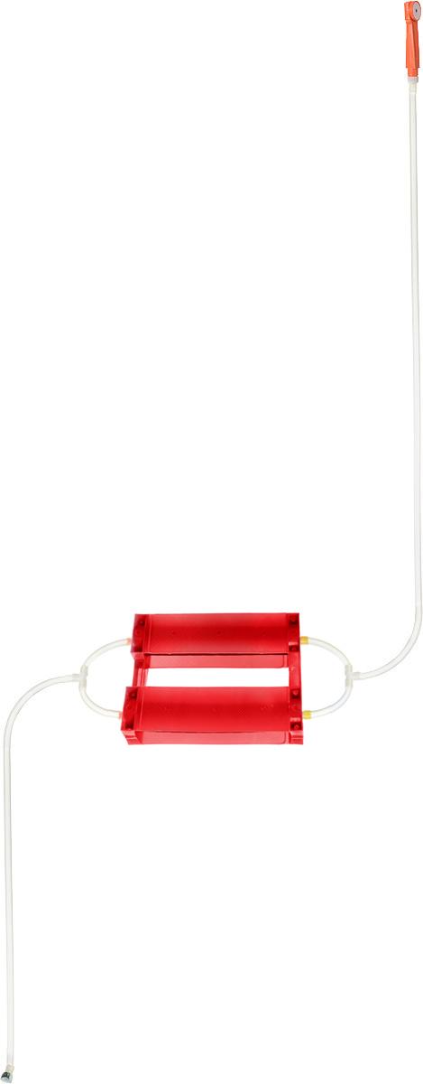 Душ портативный Восход-ЛТД Дачник, цвет: красный, желтый010-01199-23Переносной портативный душ Восход-ЛТД Дачник, выполненный из высококачественного пластика, ПВХ и резины, предназначен для принятия водных процедур в условиях отсутствия водопровода: на участках частных домов, дач, в деревенских банях.Душ состоит из 2-х секционного насоса с корпусом, всасывающего шланга и шланга с лейкой.Особенности: - при хранении и эксплуатации не допускается перегиба шлангов; - рекомендуется хранение душа при комнатной температуре.Размер насоса (с учетом корпуса): 43 х 7 х 7 см.Длина всасывающего шланга: 153 см. Длина шланга (без учета лейки): 198 см.Длина лейки: 17 см.