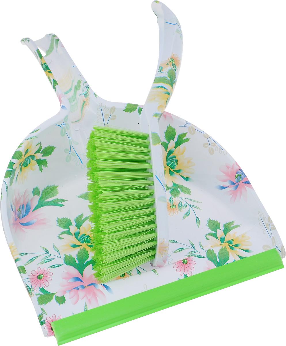 Набор для уборки Фэйт Флора, 2 предмета. 1.4.02.1241SVC-300Набор для уборки Фэйт Флора состоит из совка и щетки-сметки, изготовленных из высококачественных пластика и нейлона. Вместительный совок удерживает собранный мусор, позволяет эффективно и быстро совершать уборку в любом помещении. Прорезиненный край совка обеспечивает наиболее плотное прилегание к полу. Щетка-сметка с жестким ворсом имеет удобную форму позволяет вымести мусор даже из труднодоступных мест. Совок и щетка-сметка оснащены ручками с отверстиями для подвешивания. С набором Фэйт Флора уборка станет легче и приятнее.Общая длина щетки-сметки: 26 см.Длина ворса щетки-сметки: 5 см.Длина совка: 32 см.Ширина совка: 22 см.