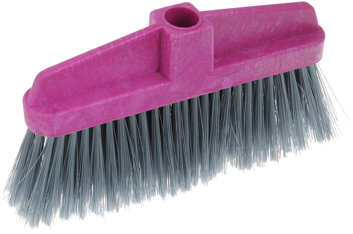 Щетка-насадка для пола Мир чистоты, цвет: серый, фиолетовый. SP003KOC_SOL249_G4Щетка-насадка для пола Мир чистоты, изготовленная из ПВХ (поливинилхлорид), полипропилена и полиэтилена, предназначена для уборки сухого мусора. Изделие оснащено универсальной резьбой, которая подходит ко всем видам ручек. Упругий, мягкий и длинный ворс максимально быстро без лишних усилий позволит собрать мусор из самых труднодоступных мест. Размер щетки: 26 х 4 х 15 см. Длина ворса: 9 см. Диаметр отверстия для черенка: 2,2 см.