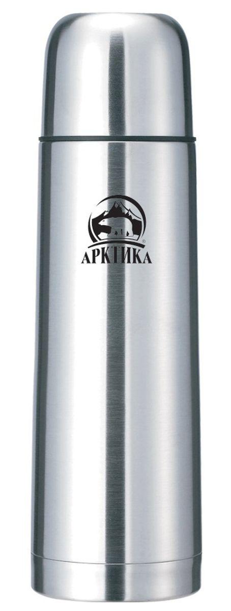 Термос Арктика, цвет: стальной, 750 мл. 101-750101-750Термос Арктика изготовлен из высококачественной нержавеющей стали с матовой полировкой. Двойная колба из нержавеющей стали сохраняет напитки горячими и холодными до 24 часов. Крышку можно использовать в качестве кружки, ее внутренняя поверхность имеет отделку пластиком, гигиенична и легка в очистке. Удобный, компактный и практичный термос пригодится в путешествии, походе и поездке. Не рекомендуется использовать в микроволновой печи и мыть в посудомоечной машине.Диаметр горлышка: 4,5 см. Диаметр основания термоса: 7,5 см. Высота термоса: 28 см.Время сохранения температуры (холодной и горячей): 24 часов.