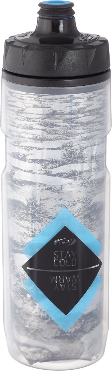 Бутылка для воды BBB, велосипедная, 500 млH20BHТермобутылка для воды BBB изготовлена из высококачественного прозрачного полипропилена, безопасного для здоровья. Она обладает двойными стенками, для наиболее лучшей теплоизоляции. Сохраняет напиток прохладным или горячим вдвое дольше. Закручивающаяся крышка с герметичным клапаном для питья обеспечивает защиту от проливания. Оптимальный объем бутылки позволяет взять небольшую порцию напитка. Она легко помещается в сумке или рюкзаке и всегда будет под рукой. Такая идеальная бутылка небольшого размера, но отличной вместимости наполняет оптимизмом, даря заряд позитива и хорошего настроения. Бутылка для воды BBB - отличное решение для прогулки, пикника, автомобильной поездки, занятий спортом и фитнесом.Высота бутылки (с учетом крышки): 24,5 см.Диаметр по верхнему краю: 5,5 см.Диаметр основания: 6,5 см.