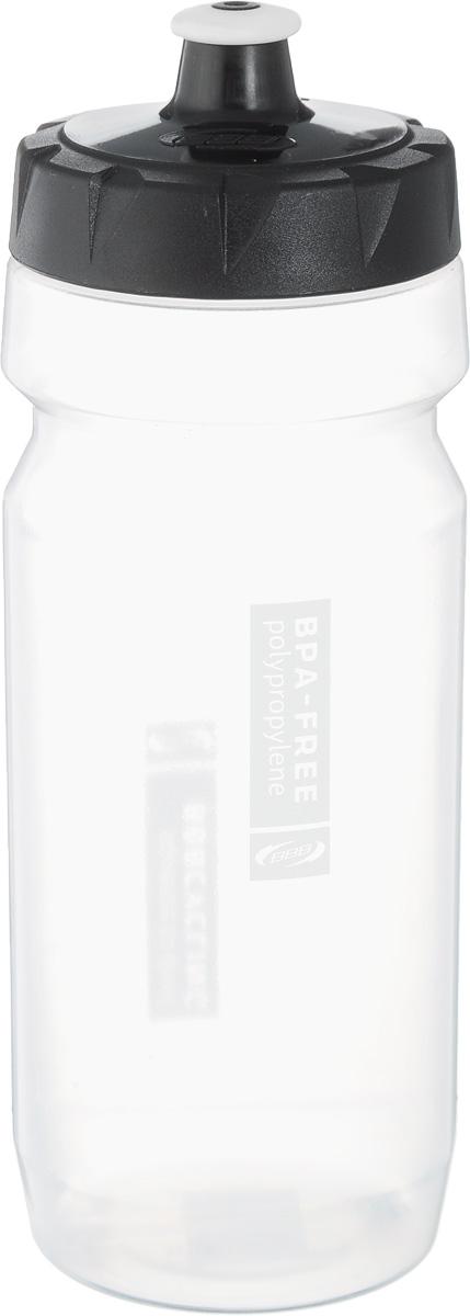 Бутылка для воды BBB, велосипедная, 550 млBWB-01Бутылка для воды BBB изготовлена из высококачественного прозрачного полипропилена, безопасного для здоровья. Закручивающаяся крышка с герметичным клапаном для питья обеспечивает защиту от проливания. Оптимальный объем бутылки позволяет взять небольшую порцию напитка. Она легко помещается в сумке или рюкзаке и всегда будет под рукой. Такая идеальная бутылка небольшого размера, но отличной вместимости наполняет оптимизмом, даря заряд позитива и хорошего настроения. Бутылка для воды BBB - отличное решение для прогулки, пикника, автомобильной поездки, занятий спортом и фитнесом. Высота бутылки (с учетом крышки): 21 см.Диаметр по верхнему краю: 5,5 см.Диаметр основания: 6,5 см.