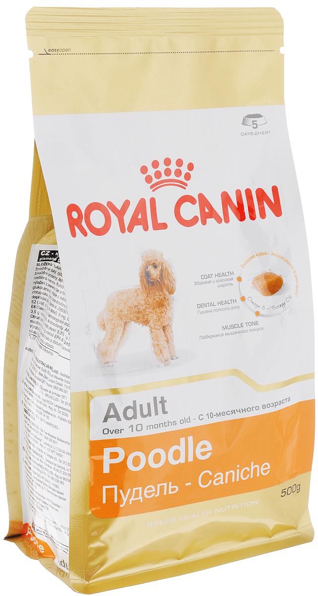 Корм сухой Royal Canin Poodle Adult, для собак породы пудель в возрасте старше 10 месяцев, 500 г00612Сухой корм Royal Canin Poodle Adult специально создан для собак породы пудель в возрасте старше 10 месяцев.Пудель - это одна из самых известных и популярных сегодня пород декоративных пород собак. Мало кто знает, но это животное не только красиво и обаятельно, но еще и занимает второе место в списке самых умных пород собак. Надолго сохранить ясность ума и здоровую шерсть поможет правильное сбалансированное питание. Корм для пуделя насыщен витаминами, аминокислотами и минералами, жизненно необходимыми собакам этой породы. Продукт содержит питательные вещества, которые помогают поддерживать идеальное состояние кожи и шерсти. Формула снижает риск заболевания зубного камня благодаря ингредиентам, связывающим свободный кальций в слюне.Мышечный тонус. Способствует поддержанию мышечного тонуса у данной породы. Состав: кукуруза, дегидратированные белки животного происхождения (птица), изолят растительных белков, животные жиры, рис, кукурузная мука, кукурузная клейковина, гидролизат белков животного происхождения, свекольный жом, соевое масло, минеральные вещества, рыбий жир, дрожжи, растительная клетчатка, фруктоолигосахариды, масло огуречника аптечного (0,1%), экстракты зеленого чая и винограда (источник глюкозамина), экстракт бархатцев прямостоячих (источник лютеина), гидролизат из хряща ( источник хондроитина). Добавки (в 1 кг): Витамин А: 29500 МЕ, Витамин D3: 800 ME, Железо: 44 мг, Йод: 4,4 мг, Марганец: 58 мг, Цинк: 173 мг, Селен: 0,1 мг..Товар сертифицирован.Уважаемые клиенты!Обращаем ваше внимание на возможные изменения в дизайне упаковки. Качественные характеристики товара остаются неизменными. Поставка осуществляется в зависимости от наличия на складе.