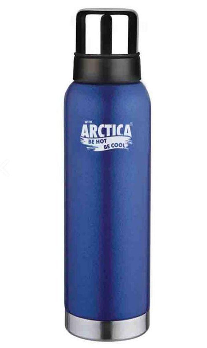 "Термос ""Арктика"", с чашей, цвет: синий, серый, 1,2 л"