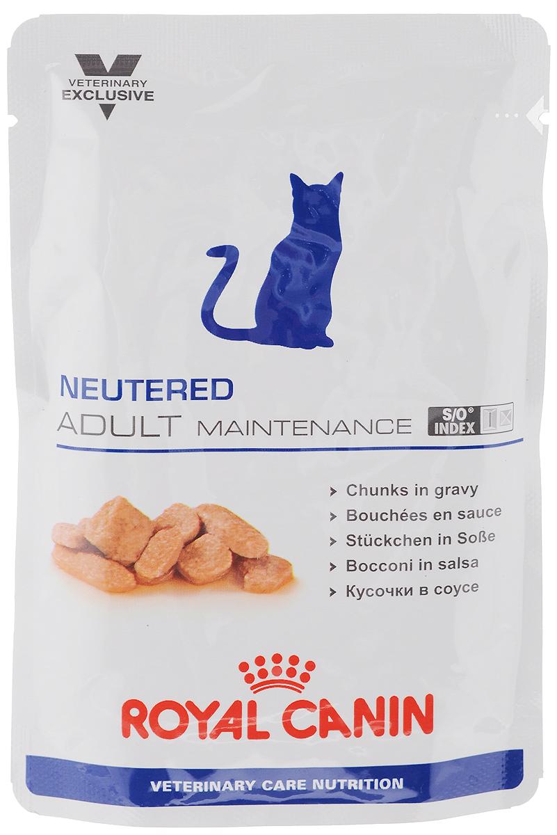 Консервы Royal Canin Neutered Adult Maitenance для кастрированных котов и стерилизованных кошек, 100 г24Консервы Royal Canin Neutered Adult Maitenance предназначены для кастрированных/стерилизованных котов и кошек с момента операции до 7 лет. Особенности: - Оптимальный вес Диета с высоким содержанием белка поддерживает мышечную массу тела. По сравнению с углеводами, белок обеспечивает организм меньшим объемом чистой энергии. - Комплекс антиоксидантов Комплекс антиоксидантов синергичного действия (витамин Е, витамин С, таурин, лютеин) нейтрализует воздействие свободных радикалов. - S/O Index Знак S/O Index на упаковке означает, что диета предназначена для создания в мочевыделительной системе среды, неблагоприятной для образования струвитных кристаллов и кристаллов оксалата кальция. Состав: свиная печень, свинина и мясо птицы, пшеничная мука, целлюлоза, пшеничная клейковина, минеральные вещества, желирующее вещество, таурин, гидролизат дрожжей (источник маннановых олигосахаридов), экстракт бархатцев прямостоячих (источник лютеина), витамины. Питательные добавки (на 1 кг): Витамин D3 270 МЕ, Железо 11 мг, Йод 0,4 мг, Марганец 3,3 мг, Цинк 33 мг. Содержание питательных веществ (на 100 г): белки 10 г, жиры 3,5 г, углеводы 3,9 г, клетчатка пищевая 2 г, клетчатка общая 1,5 г, Омега 6 0,65 г, Омега 3 0,04 г, кальций 0,32 г, фосфор 0,23 г, натрий 0,15 г, калий 0,13 г. Энергетическая ценность (на 100 г): 85 ккал. Товар сертифицирован.