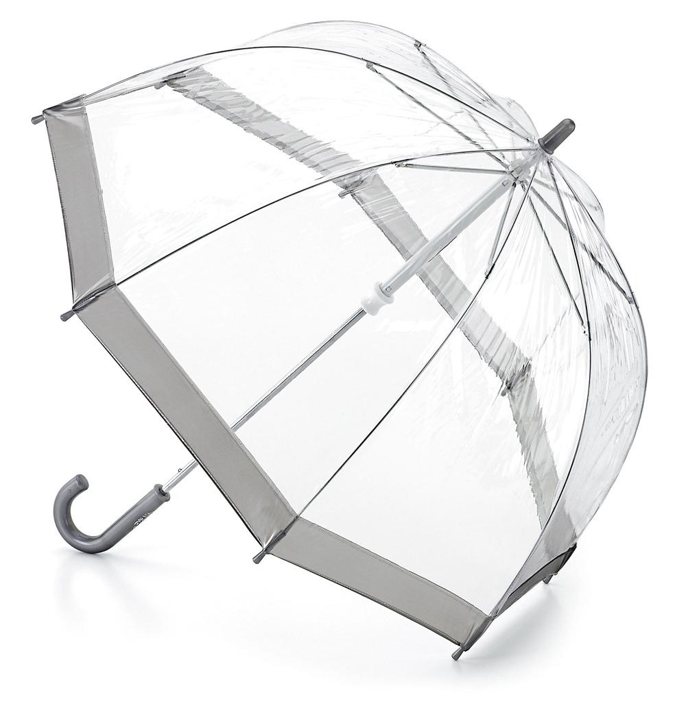 Зонт детский Fulton, расцветка: серебряный. C603-03 Silver45100033/18076/3500NСимпатичный прозрачный зонтик в форме купола с цветной полоской обязательно понравится Вашему ребенку!Специальная безопасная и надежная технология открывания и закрывания.Модная форма купола.Зонт отлично защищает от дождя, и при этом он абсолютно прозрачен.Прочный ветроустойчивый каркас из фибергласса.Длина в сложенном виде 68,5 см, диаметр купола 65 см