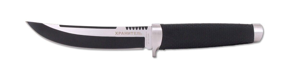 Нож охотничий Ножемир, длина клинка 15 см. H-149PBH-149PB НожемирНожемир понравится любителям больших ножей. Тактические характеристики ножа видны невооруженным взглядом. Клинок выполнен из прочной стали. Рукоять, изготовленная из эластрона, имеет геометрическое рифление, за счет чего обеспечивается уверенное удержание даже в мокрой руке. Плавно поднимающийся участок режущей кромки приспособлен для свежевания добычи.В комплекте чехол для переноски и хранения.Общая длина ножа: 28 см.Твердость клинка: 55-56 HRC.