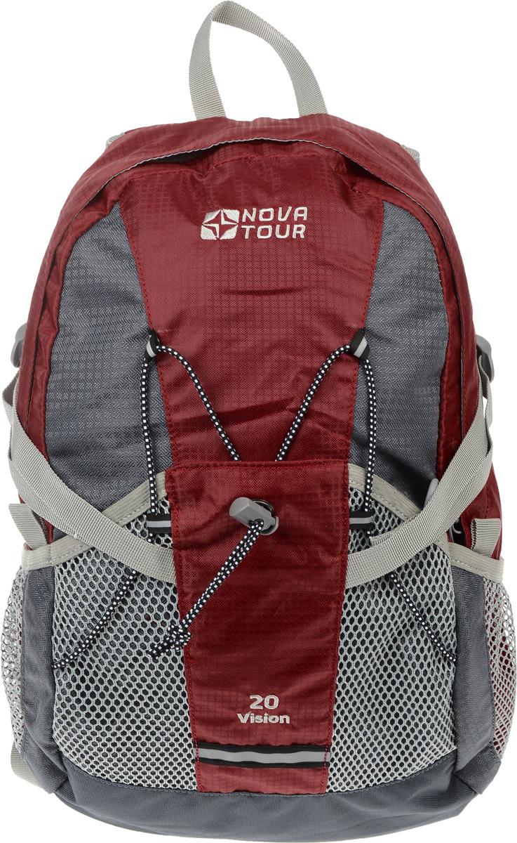 Рюкзак городской Nova Tour Вижн 20, цвет: красный, серый, 20 лZ90 blackПрактичный рюкзак Nova Tour Вижн 20 отлично подойдет для города и спорта. Оснащен одним вместительным отделением на застежке-молнии и 3 сетчатыми карманами на лицевой стороне. Полужесткие вставки в спине рюкзака, крепление для шлема, отделение для гидратора, боковые карманы из сетки - специально для подвижных людей.Особенности:Сетчатый материал, отводящий влагу от вашего тела. Применяется на лямках, спинках и поясе рюкзака.Грудная стяжка для правильной фиксации лямок рюкзака и предотвращения их соскальзывания.Кармашки позволяют рационально разместить мелкие вещи.Объем 20 л.