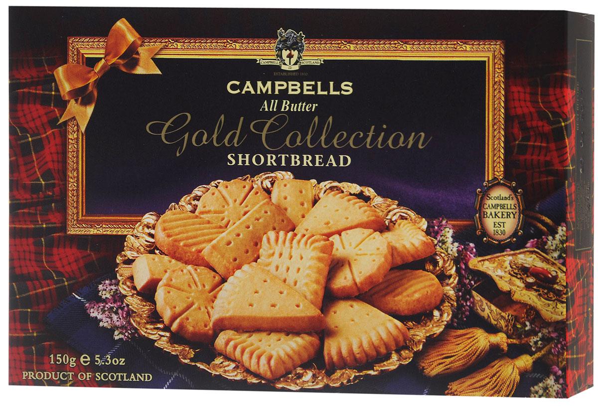 Campbells Gold Collection песочное печенье, 150 г0120710Campbells Gold Collection - легендарное песочное печенье из Шотландии. Производитель вот уже 180 лет не изменяет рецепт приготовления этого вкуснейшего печенья, который состоит преимущественно из натуральных ингредиентов.