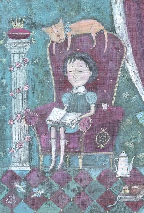 Открытка Вечерняя сказка. Автор Светлана СоловьеваБрелок для ключейОригинальная дизайнерская открытка «Вечерняя сказка» выполнена из плотного матового картона. На лицевой стороне расположена репродукция работы художницы Светланы Соловьевой с принцем, читающим книгу сказок.Такая открытка станет великолепным дополнением к подарку или оригинальным почтовым посланием, которое, несомненно, удивит получателя своим дизайном и подарит приятные воспоминания.